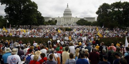 Washington receives a few visitors from the Tea party